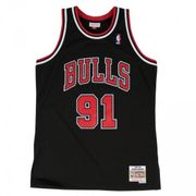 Maillot NBA swingman Dennis Rodman Chicago Bulls 1997-98 Hardwood Classics Mitchell & ness noir taille - XS
