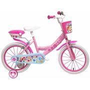 Vélo  14 Licence Princesse pour enfant de 4 à 6 ans avec stabilisateurs à molettes