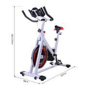 Vélo d'appartement cardio vélo biking écran multifonction selle et guidon réglables blanc noir rouge