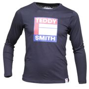 Tee Shirt Garçon Teddy Smith Tegis Ml Jr 61005860d 351 Dark Navy