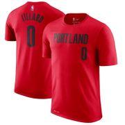 T-shirt NBA Damian Lillard Portland Blazers Rouge pour enfant Taille - XL (165-175cm)