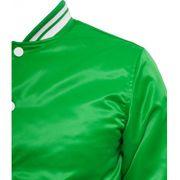 Blouson Teddy URBAN CLASSICS Vert / Blanc Shiny College Style