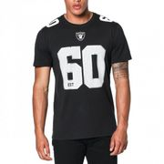 T-Shirt NFL Oakland Raiders New Era Number Classic Noir pour homme taille - L