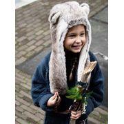 BARTS-Bonnet marron imitation fourrure du 4 au 12 ans modèle balade hood barts