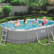 Bestway Ensemble de piscine Power Steel Ovale 56448