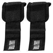 Gorilla Sports - Paire de sangles de tirage rembourrées pour cheville ou poignet -  2 sangles Nylon avec fermetures velcro