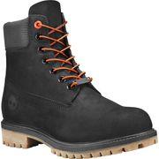 Timberland 6 Premium Boot Black Waterbuck W/Textile Collar , 8, Wide
