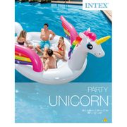 Intex Flotteur gonflable pour piscine Unicorn Party Island 57266EU