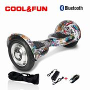 Cool&fun Hoverboard Bluetooth gyropode 10 pouces hip-hop multi-couleur