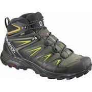 Chaussures de marche Salomon X Ultra 3 Mid GTX gris noir vert