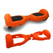 Housse en silicone demi protection Orange Gyropode Hoverboard