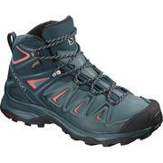 Salomon - X Ultra 3 Mid GoreTex Femmes chaussures de randonnée (vert/rose)