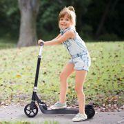 Trottinette électrique 120 W pliable pour enfant 3-7 ans 6 Km/h max. autonomie 8 km max. acier plastique noir