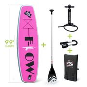 FLOW YOGA - Inflatable stand-up paddle board w/ paddle & coil leash