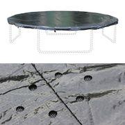 Pack accessoires pour trampoline Ø400cm Mercure - Échelle, b0che de protection, filet de rangement pour chaussures, kit d'ancrage