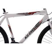 VTT 26'' Tout Suspendu Ontario blanc rouge TC 51 cm KS Cycling