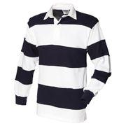 Front Row - Polo de rugby rayé à manches longues 100% coton - Homme