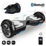 Mega Motion Hoverboard Gyropode 6.5 pouces bluetooth noir + Housse en silicone protection pour hoverboard  Gyropode 6,5 pouces, noir