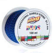 Diabolo Comet Rose + Ficelle DEOS 10M Bleu + Baguettes Alu doré + Sac