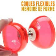 Diabolo Quartz V2 Rouge + Baguettes Superglass Vert + Ficelle Orange + Sac