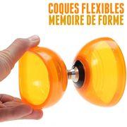 Diabolo Quartz V2 Orange + Superglass Rouge + 10m Ficelle Henrys Orange + Sac