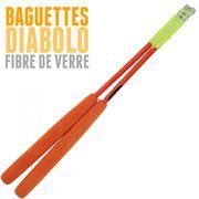 Diabolo Beach Free Jaune + baguettes Orange + Ficelle Henrys Orange + Sac