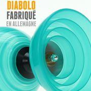 Diabolo Beach Free Turquoise + Baguettes Alu Rouge + 10m Ficelle Jaune + Sac