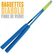 Diabolo Jester Jaune et Bleu + Bag Superglass Bleu + 10m Ficelle Jaune + Sac