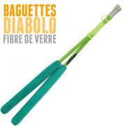 Diabolo Jester Rouge et Noir + Bag Superglass Vert + 10m Ficelle Orange + Sac