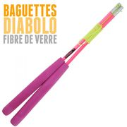 Diabolo Jester Jaune et Rouge + Bag Superglass rose + 10m Ficelle Orange + Sac