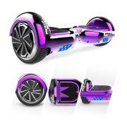 Mega Motion Hoverboard Gyropode bluetooth 6.5 pouces classique, Overboard certifié E2 violet chromé
