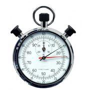 Chronometre mecanique à mouvement d'horlogerie avec remontoir 1/5sec - 1/100min