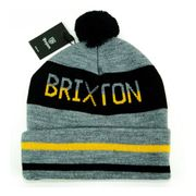 Bonnet Brixton Fairmont Gris Noir Jaune Made in USA
