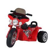 Moto électrique pour enfants chopper police 6 V env. 3 Km/h 3 roues effet lumineux et sonore noir et rouge neuf 32RD