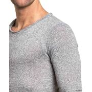 Pullover fin gris chiné oversize