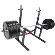 Gorilla Sports - Pack haltérophile avec haltère long et rack à squat 170 kg