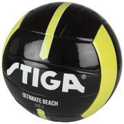 BALLON DE FOOTBALL  Ballon de football et volley Ultimate beach - Noir et jaune - Taille 4