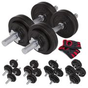 Set d'haltères courts en fonte 30 kg (2x15 kg) Musculation fitness training home