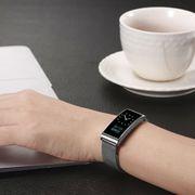 Bracelet d'activité Muvit IO Luxe Aqua argent