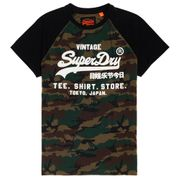 SUPERDRY Shirt Shop Camo Raglan T-Shirt Mc Homme