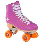 Hudora Patins à Roulettes Disco - Rollers - Violet/Orange - Taille 36