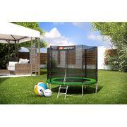HS Hop-Sport Trampoline de jardin ronde 244 cm trampoline avec filet extérieur; échelle; bâche de protection Verte