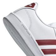 Chaussures adidas neo Cloudfoam Advantage blanc grenat