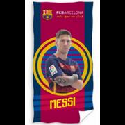 Drap de plage FC Barcelone du joueur MESSI officiel 70 cm x 140 cm - unique bleu