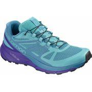 Salomon - Sense Ride Femmes chaussure de course (bleu/pourpre)