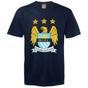 Manchester City FC officiel - T-shirt thème football - avec blason - enfant