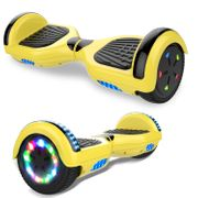 Cool&Fun hoverboard gyropode 6.5 Pouces avec Bluetooth Jaune + Housse en silicone protection pour hoverboard  Gyropode 6,5 pouces, bleu jaune
