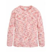 PEPE JEANS-Pull maille chiné rose corail ado fille pepe jeans