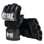 Mitaines / Gants MMA Combat Libre cuir avec pouce METAL BOXE