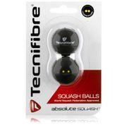 Lot de 2 balles double points jaunes squash